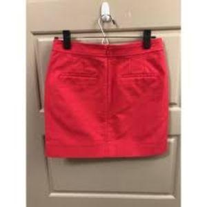 J.Crew Pink Khaki mini skirt size 6 with pockets